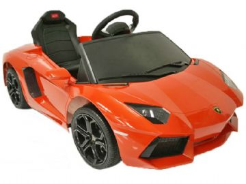 6v Electric Ride on Car Lamborghini Aventador Official Model in Orange with Parental Control